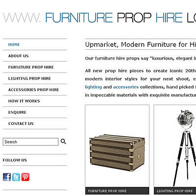 Furniture Prop Hire London
