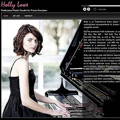 Professional pianist's website