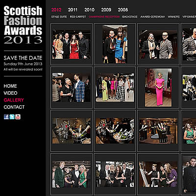 Scottish Fashion Awards Holding Website